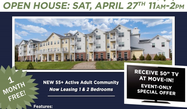 OPEN HOUSE @ WHITING SAT, APRIL 27TH!
